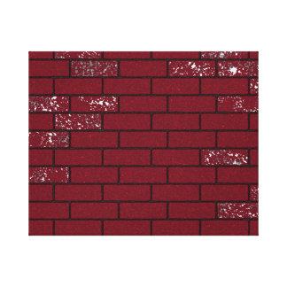 Faded bricks canvas