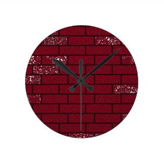 Faded bricks clock