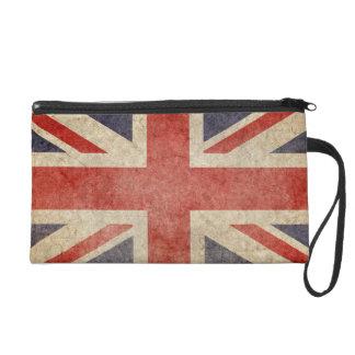Faded British Flag Wristlet