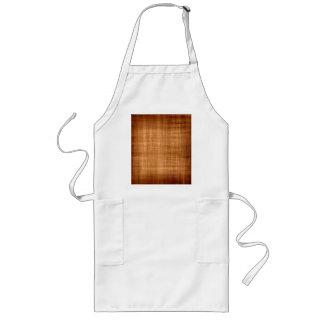 Faded Brown Fabric Long Apron
