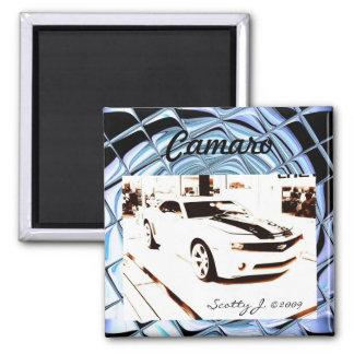 """Faded Camaro"" © 2009 S.J. Fridge Magnets"