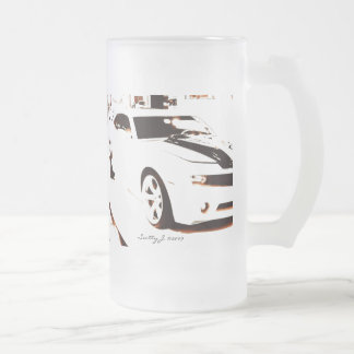 Faded Camaro © copyright 2009 S.J. Frosted Glass Beer Mug