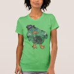 Faded Cartoon Irish Penguin T-shirt