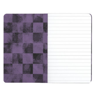 Faded Checkered Purple and Black Journals