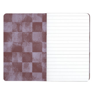 Faded Checkered Rose Journal