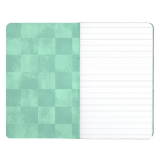 Faded Checkered Turquoise Journal