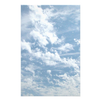 Faded Cloudy Sky Stationery