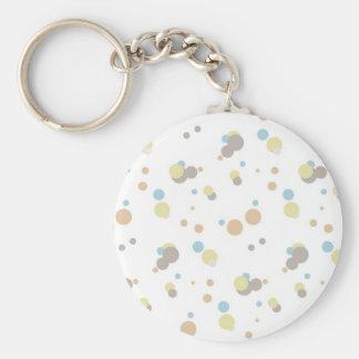 Faded Colored Polka Dots Key Chain