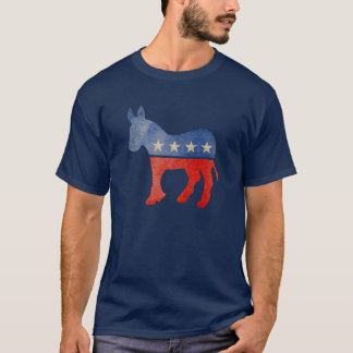 Faded Democrat Donkey T-Shirt