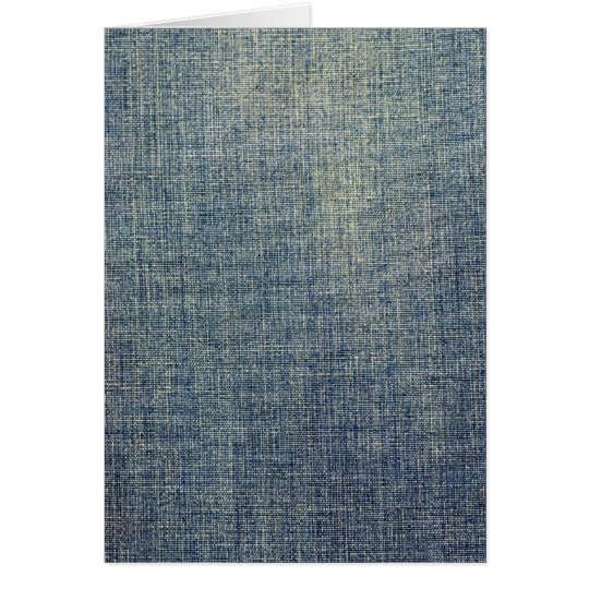 Faded denim fabric texture card