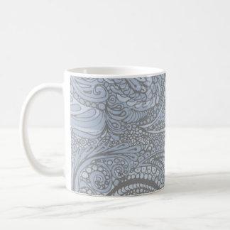 Faded Denim Paisley Coffee Mug