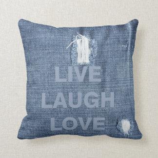 Faded Denim Pillow
