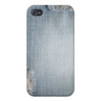 Faded Denim Ripped Blue Jeans  iPhone 4/4S Case