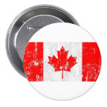 Faded Flag Of Canada Buttons