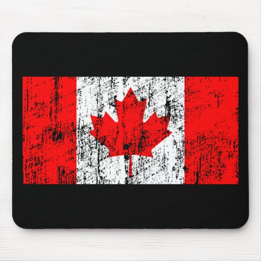 Faded Flag Of Canada Mouse Pad
