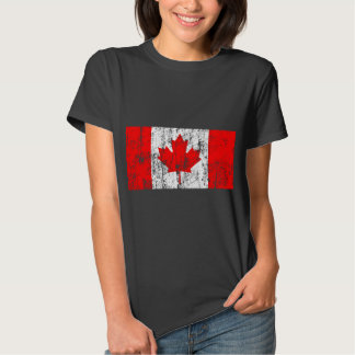 Faded Flag Of Canada T Shirt