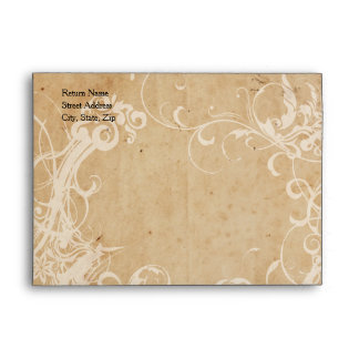 Faded Floral Personalized Envelopes
