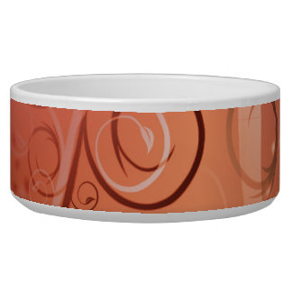 Faded Floral Swirl Coral Peach Gifts for Her Bowl