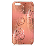 Faded Floral Swirl Coral Peach Gifts for Her iPhone 5C Case