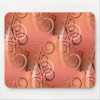 Faded Floral Swirl Coral Peach Gifts for Her Mouse Pad