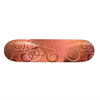 Faded Floral Swirl Coral Peach Gifts for Her Skate Boards
