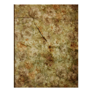Faded Floral Wallpaper Pattern Scrapbook Paper Letterhead