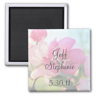 Faded Flowers Save the Date Magnet
