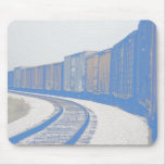 Faded Freight Train Mouse Pads