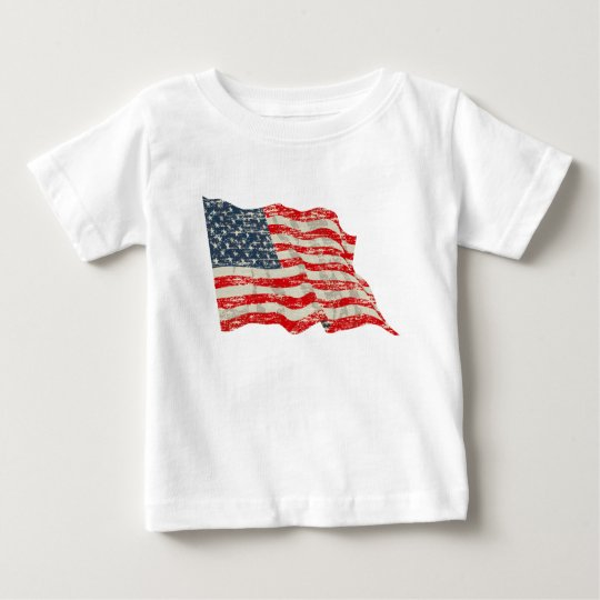 Faded Glory American Flag Baby T-Shirt