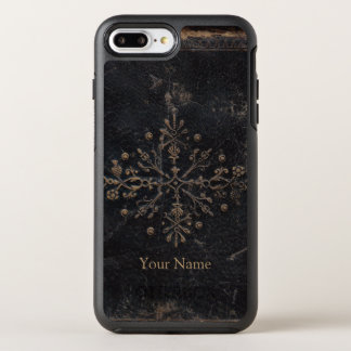 Faded Gold Leaf Ornate Add Your Name OtterBox Symmetry iPhone 7 Plus Case