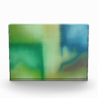 Faded Green & Blue Abstract Oil Painting Award