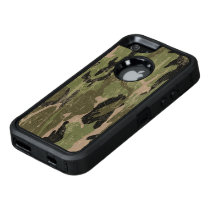 Faded Green Camo OtterBox Defender iPhone Case