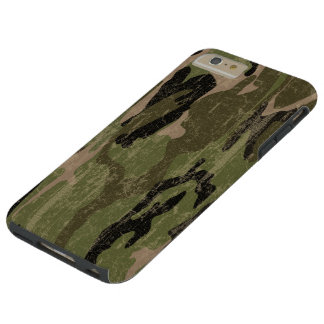 Faded Green Camo Tough iPhone 6 Plus Case