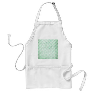 Faded Grunge Damask in Green Adult Apron