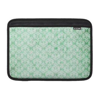 Faded Grunge Damask in Green Sleeve For MacBook Air