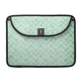 Faded Grunge Damask in Green MacBook Pro Sleeves