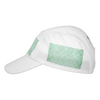 Faded Grunge Damask in Green Headsweats Hat