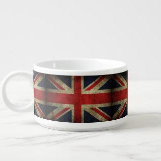 Faded Grunge Union Jack British Flag of England Chili Bowl