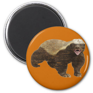 Faded Honey Badger 2 Inch Round Magnet