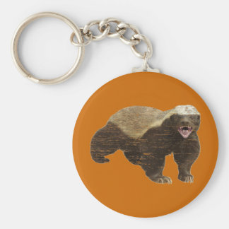 Faded Honey Badger Basic Round Button Keychain