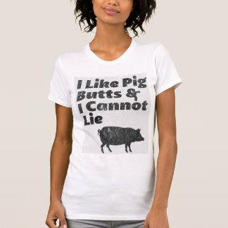 Faded I Like Pig Butts and I Cannot Lie Shirt