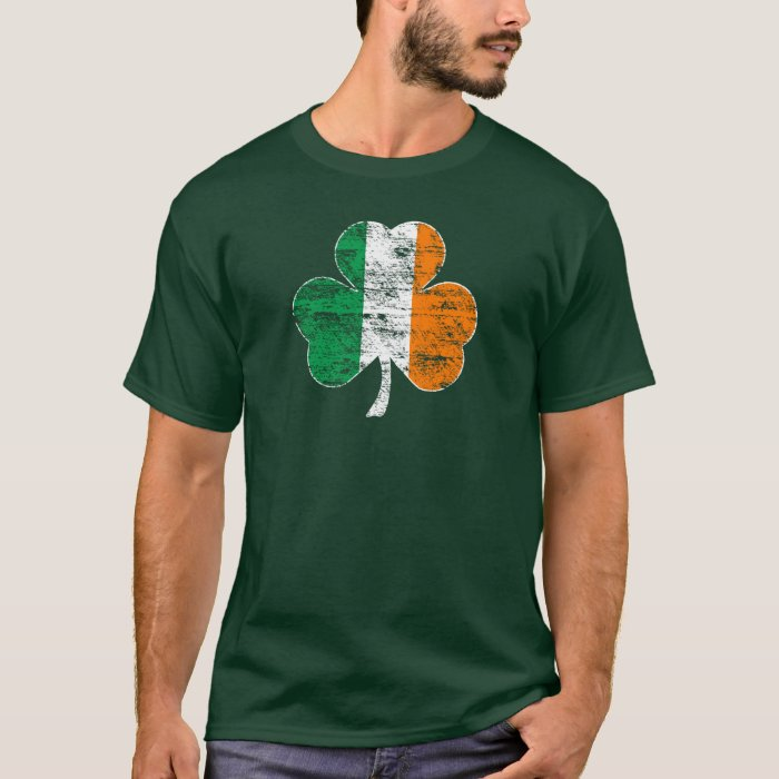 Faded irish flag shamrock t shirt green zazzle for Faded color t shirts