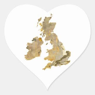 Faded Isles Heart Sticker