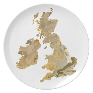 Faded Isles Melamine Plate