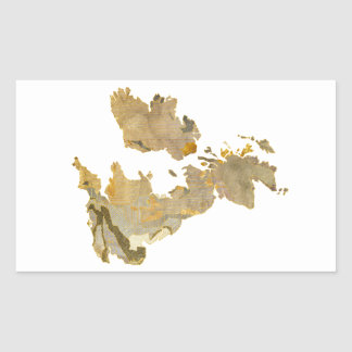 Faded Isles Rectangular Sticker