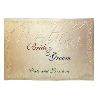 Faded Ivory Embossed Effect Wedding Placemat