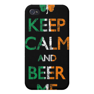 Faded Keep Calm And Beer Me Irish Flag i Cover For iPhone 4