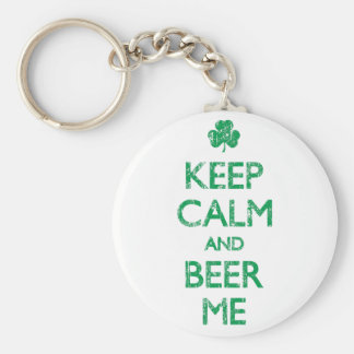 Faded Keep Calm And Beer Me Keychain