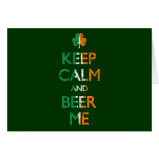 Faded Keep Calm And Beer Me St Patrick's Day Card