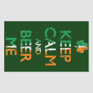 Faded Keep Calm And Beer Me St Patrick's Day Rectangular Sticker